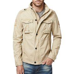 Buffalo David Bitton Resort 2017 Jimmy Jacket ($109) ❤ liked on Polyvore featuring men's fashion, men's clothing, men's outerwear, men's jackets, cork and buffalo david bitton