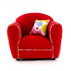 baby sofa by Baby Inc. Toddler Sofa, Baby Sofa, Red Sofa, Tub Chair, Accent Chairs, Parenting, Blog, Diy, House