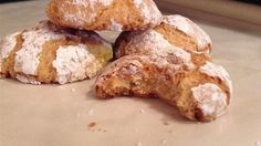 This is the classic Italian almond macaroon. When first baked they are crispy on the outside and chewy on the inside. As they sit, they get crunchy throughout. Delicious with any fruit dessert.