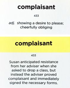 Word of the Day: COMPLAISANT