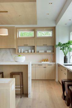 Luxury Kitchen Design, Best Kitchen Designs, Luxury Kitchens, Interior Design Kitchen, Cool Kitchens, Light Wood Kitchens, Light Wood Cabinets, Small Kitchens, Design Bathroom