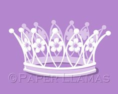art for girls princess tiara custom colors girls by PaperLlamas