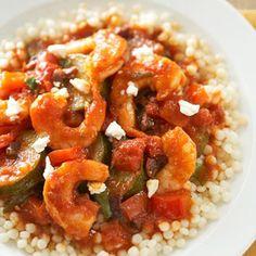 Mediterranean Shrimp and Pasta