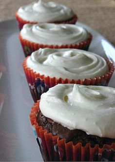 Brownie Cupcakes with White Chocolate Cream Cheese Frosting