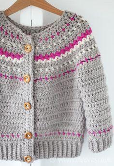 Crochet Fair Isle Cardigan - Lululoves: Pattern by Ball Hank N' Skein