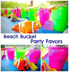 These party favors are perfect for a  beach themed party!   .. considering my daughter's birthday is in January I probably wont be using this but it's such a good idea!  :)