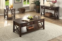 Poundex Console Table F6345