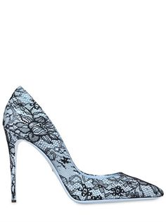 DOLCE  GABBANA - 105MM KATE PATENT LEATHER  LACE PUMPS - loooove these