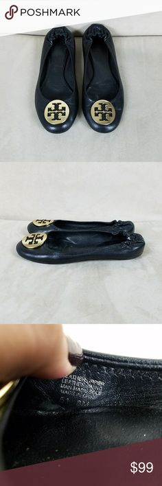 Tory Burch Classic Reva Flats In excellent preowned condition! They were very well cared for and come from a non smoking, pet free home. Made in Brazil. Hardware is gold. Price is firm. Tory Burch Shoes Flats & Loafers