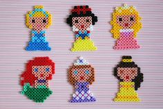 Disney Princess hama beads by Mamma Gioca Fuse Bead Patterns, Perler Patterns, Loom Patterns, Beading Patterns, Pearler Beads, Fuse Beads, Perler Bead Disney, Diy And Crafts, Crafts For Kids