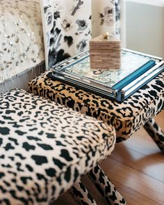 Duralee DV61206-600 leopard print velvet x-benches Lonny Michelle Adams