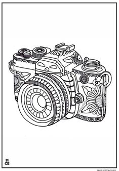 Photography, : Tribal Camera in Photography Coloring Page
