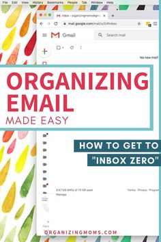 How to set up your own system for organizing email and get your email inbox to zero once and for all. Resources and tutorials to help you make it happen! Home Organization Hacks, Coupon Organization, Planner Organization, Organizing Tips, Cleaning Tips, Gmail Hacks, Personal Email Address, Clutter Solutions, Organized Mom