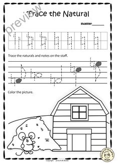 A Set Of 20 Summer Themed Music Worksheets Is Created To Help Your Students Learn Trace Copy Color And Draw Symbols Notes Rests Commonly Used In