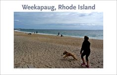 Gallery Delany: Rhode Island Collection Woman with dog, beach at Weekapaug, Rhode Island. Spruce up your walls, home, apartment, condo or getaway, excellent gift on special occasion: - To see detail,