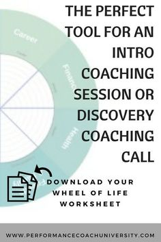 [Coaching Tool] The wheel of life is one of the most versatile and widely used coaching tools to get a great idea and overview of where someone is at in life – overall. Check out how to use the Wheel of Life Coaching Tool. Systemisches Coaching, Coaching Questions, Life Coaching Tools, Online Coaching, Business Coaching, Coaching Techniques, Business Tips, Online Business, Filofax Personal