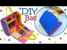 DIY BAG ORGANIZER FROM CARDBOARD & PENCILS CASE TUTORIAL STEP BY STEP - YouTube