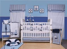 Bacati - Little Sailor 10 piece Crib Set by Bacati, http://www.amazon.com/dp/B004GIGUW4/ref=cm_sw_r_pi_dp_BhI0pb0W0QNBG