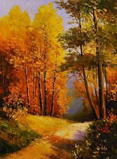 Autumn in the forest - autumn forest nature TagsForLikes sky sun summer beach beautiful sunset sunrise blue flowers night tree twilight clouuds beuty light cloudporn photooftheday love green skylovers dusk weather day red iphonesia Watercolor Landscape, Landscape Art, Landscape Paintings, Image Nature, All Nature, Autumn Painting, Autumn Art, Autumn Forest, Country Paintings