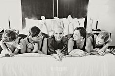 Bridal Party Photography - In Bed