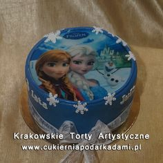 080. Fototort Kraina Lodu z Elsą i Anną. Frozen photocake with Else and Anna.