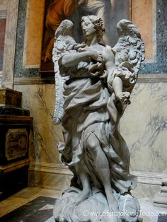 Angel statue inside the Pantheon
