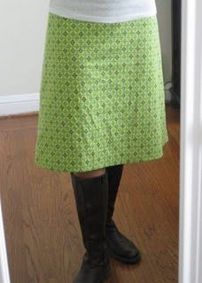 Amy Butler's Barcelona Skirt pattern. This looks like a perfect style for me.