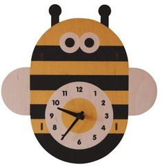Buzz buzz bee wall clock for childrens bedrooms, wall decor, #affiliate