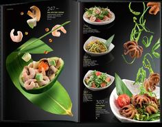 Flying Sushi is the theme for this cool menu