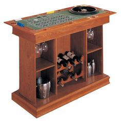 Casino Gaming Bar... perfect birthday gift for a casino themed party. We could build one with interchangeable tops. Not the easiest project I've considered for a party, but far from the hardest... lol