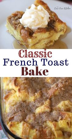 is a classic French Toast Bake or Overnight French Toast recipe. It's made with simple ingredients and is so easy to make!This is a classic French Toast Bake or Overnight French Toast recipe. It's made with simple ingredients and is so easy to make! Breakfast Desayunos, Breakfast Dishes, Breakfast Casserole French Toast, French Tost Casserole, Easy Recipes For Breakfast, Crockpot Breakfast Casserole Overnight, Challah French Toast Casserole, Breakfast For A Crowd, Easy Brunch Recipes