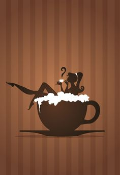 Each morning should start like this, and each night should wrap up like this. ♥♥♥ Previous pinner posted: Cappuccino Retro Art by Coolgraphic.deviantart.com on @deviantART