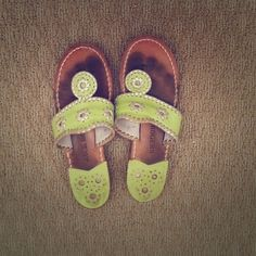 Jack Rogers Sandals Lime Green Jack Rogers sandals have been worn many times but there is still a lot of life left to them. Jack Rogers Shoes Sandals