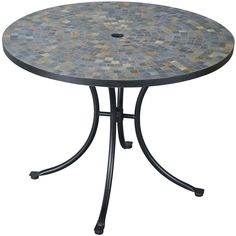 Home Styles Stone Harbor Mosaic Patio Dining Table - Black : Ultimate Patio