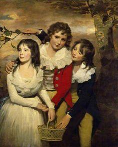 The Paterson Children: Margaret (d.1845), George (1778–1846), and John (1778–1858) - Henry Raeburn (c. 1789-90)