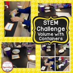 Super STEM challenge about volume! Can you determine the order of containers according to volume?