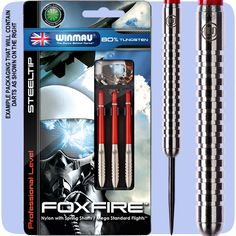 Darts - 23g Steel Tip Tungsten Darts - Winmau - Foxfire - Style A - 23g - http://www.dartscorner.co.uk/product_info.php?cPath=9_183_205&products_id=35308