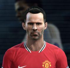 Giggs face for Pro Evolution Soccer 2012