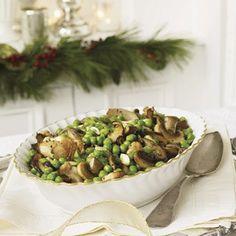 Braised Wild Mushrooms and Peas  #christmas #holiday #recipes