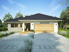 DOM.PL™ - Projekt domu FA OCEANIA CE - DOM GC6-28 - gotowy koszt budowy Modern Bungalow House, Stylish Bedroom, House Plans, Sweet Home, Floor Plans, Construction, Exterior, Outdoor Decor, Home Decor