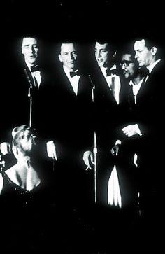 The Rat Pack: Peter Lawford, Frank Sinatra, Dean Martin, Sammy Davis, Jr and Joey Bishop