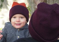 Familienhaube Baby Kind, Babys, Knitted Hats, Knitting, Dark Red, Hoods, Kids, Knit Hats, Babies