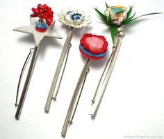 """Fran Allison """"weeds"""" (2005) 'Random Findings' Pins - assorted found objects, silver"""