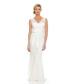 Adrianna Papell Sleeveless Lace Gown - minus the belt