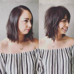 """350 Likes, 10 Comments - Corinna Hernandez (@ponysalon) on Instagram: """"From grown out bob to fresh new modern shag! @haardyhaar thank you for being my demo model today…"""""""