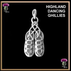 Highland Dancing Ghillies Pendant - Sterling Silver