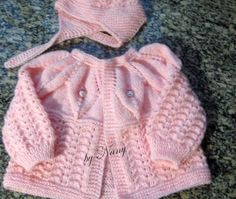 How to tutorial knitting and crochet baby pattern free Baby Knitting Patterns, Baby Cardigan Knitting Pattern Free, Baby Sweater Patterns, Knitting For Kids, Baby Patterns, Knitting Ideas, Cardigan Bebe, Sweater Set, Vintage Knitting