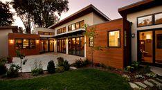 Modern house made of wood and stucco. <3