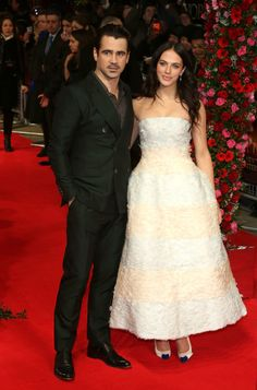 Colin Farrell & Jessica Brown-Findlay Bring 'Winter's Tale' to the UK: Photo Colin Farrell and Jessica Brown-Findlay pose for a picture together on the red carpet of the Winter's Tale premiere held at the Odeon Kensington on Thursday (February… Famous Celebrities, Celebs, Lady Sybil, Jessica Brown Findlay, Jessica Rose, New York Winter, Cinema, Red Carpet Gowns, Winter's Tale