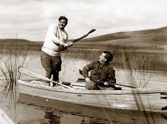 These Rare Historical Photos Will Blow Your Mind - Standard News - Babe Ruth goes duck hunting!